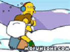 Simpsons Snowball Fight Hacked