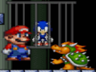 Super Mario Save Sonic Hacked