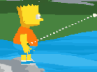 Bart Simpson Jumping Hacked
