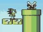 Sonic Stuck in Mario World 2 Hacked