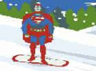 Superman Snowboarding Hacked