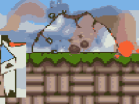 Tiny Tower vs The VolcanoHacked